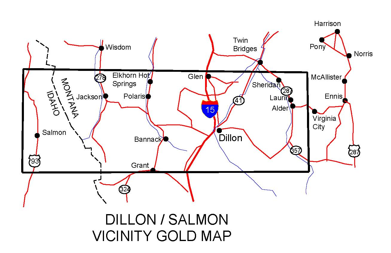 Montana Gold Maps Gold Placers And Gold Panning And Metal Detecting
