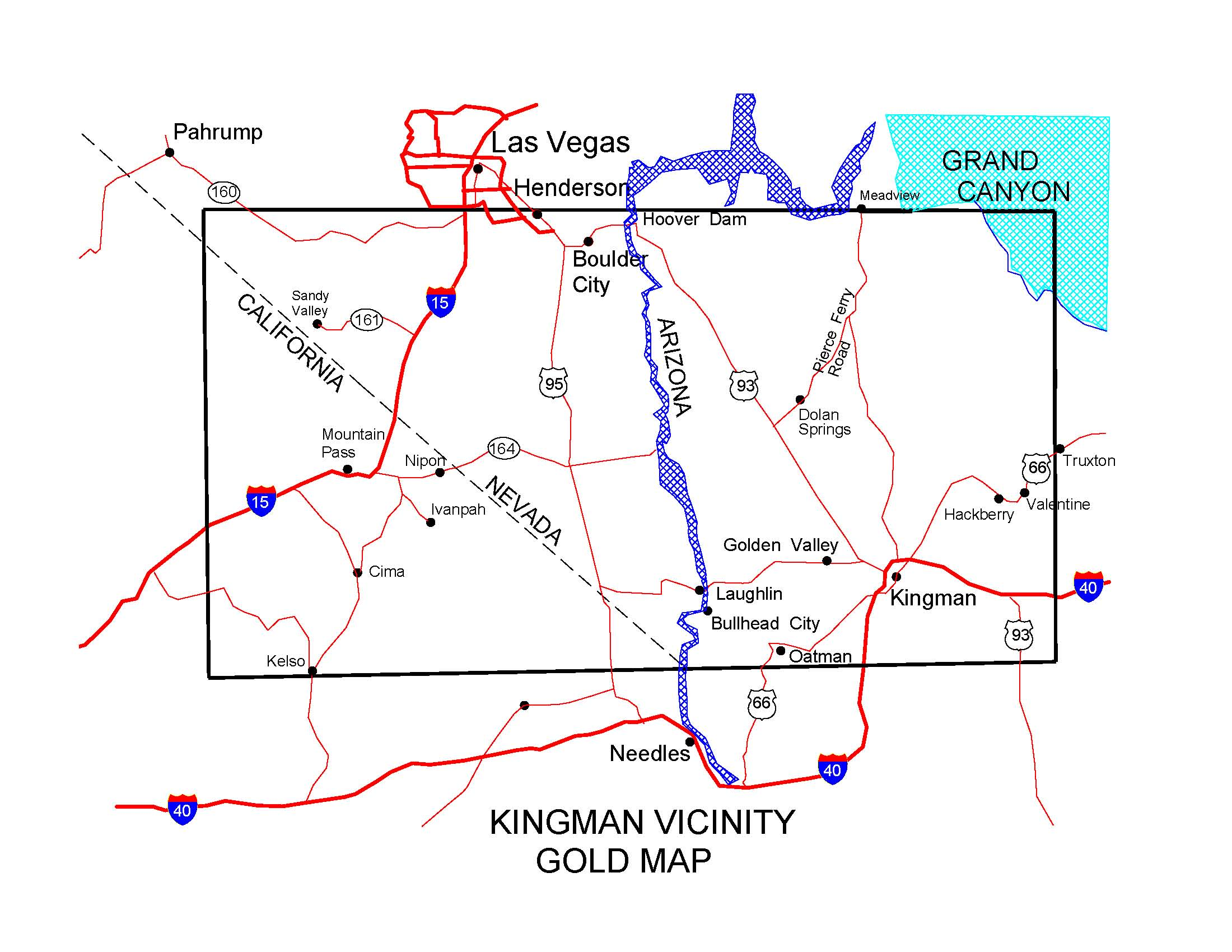 Map Of Arizona Mines.Arizona Gold Maps Gold Placers And Gold Panning And Metal
