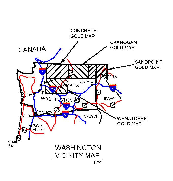 Washington state gold mining maps